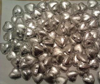 Bombones 3,5x3,5cm. Corazónes De Chocolate Para Souvenirs