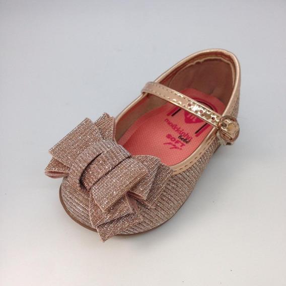 Sapatinho Bebe Menina Molekinha Boneca O.rosado Lurex