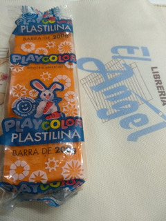 Plastilina Playcolor X 200 Grs Color Naranja