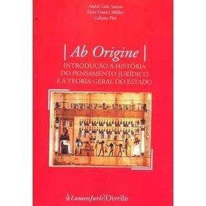 Ab Origine Introdução A História Do Pensamento Jurídico
