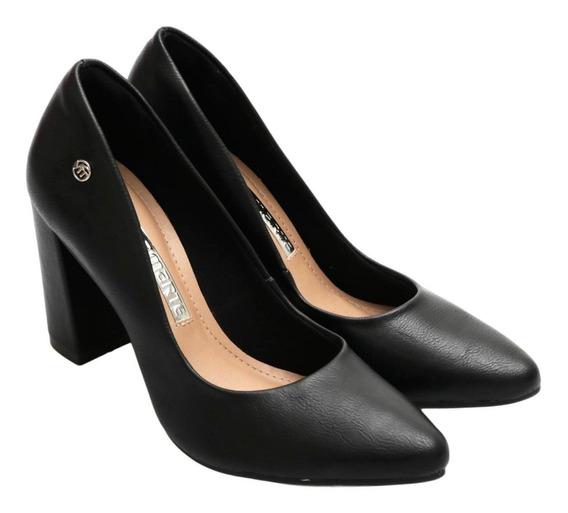 Zapatos Stilettos Mujer Via Marte Taco Cuadrado 9cm Pu Liso