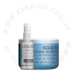 Keraliss Kit 2.7 Máscara Nutritiva Y Serum + Sobre Ziploc