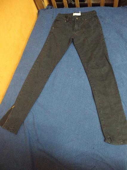 Pantalon De Jean Negro Talle 40 De Marca