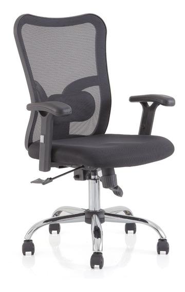 Cadeira Executiva Mesh Screen Giratória Somnium Preta