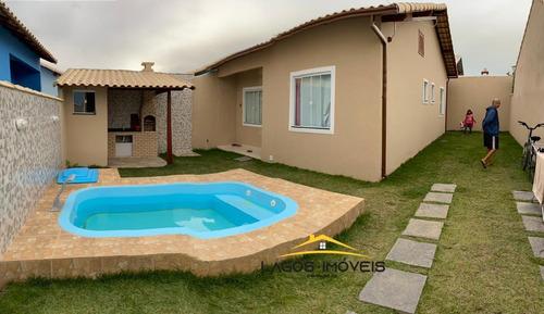 Imagem 1 de 6 de Casa Com 02 Quartos Com Piscina No Cond. Gravata - Cabo Frio