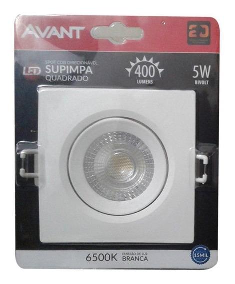 Spot Super Led Quadrado 5w Dicroica Embutir Direcional Avant