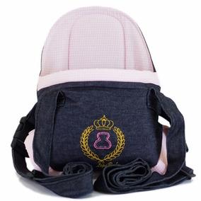 Canguru Cadeirinha Carregador Bebê Lux Baby Bag Rosa Menina