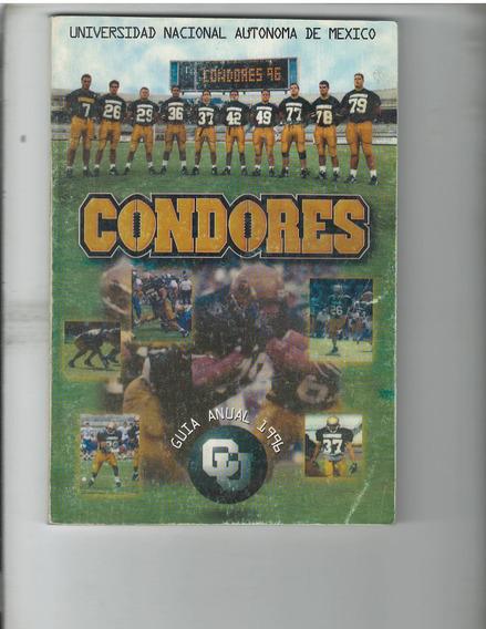 Futbol Americano 10 Guias De Prensa Condores Universidad