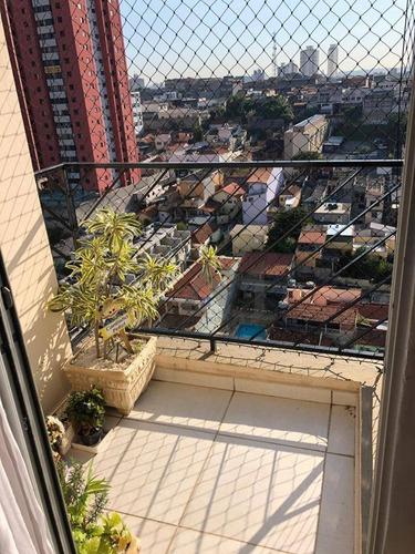 Apartamento Com 2 Dormitórios À Venda, 60 M² Por R$ 362.000,00 - Vila Esperança - São Paulo/sp - Ap0140