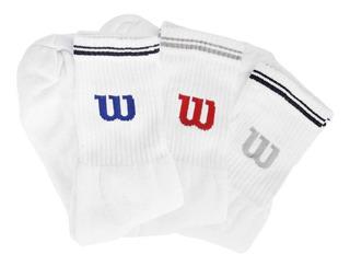 Meias Wilson Sport Socks Com 3 Pares 40 A 44