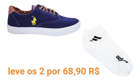 Compre O Tênis Polo E Leve Kit Com 3 Pares De Meias adidas
