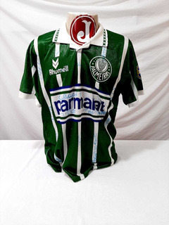 Camisa Palmeiras Parmalat Rhumell 1994 Autografada