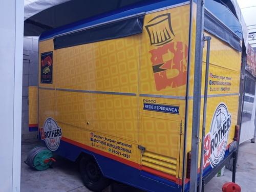 Trailer Food Truck 4mx3m Freio - 10x Cartão/ Tenda/ Tv/ Comp