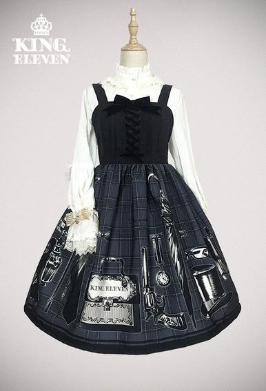 Vestido Lolita King Eleven Gris