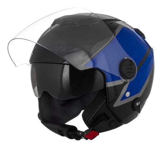 Capacete Moto New Atomic Pro Tork Superbike Black/blue