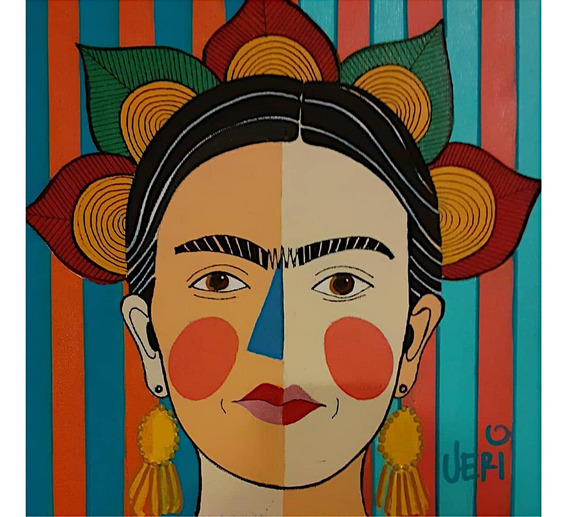 Quadro Pop Art - Frida Kahlo