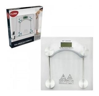 Balança Eletrônica De Vidro De Até 180 Kg Clink