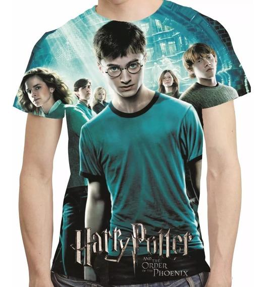Camisa Harry Potter Camiseta Ea Ordem Da Fenix Estampa Total