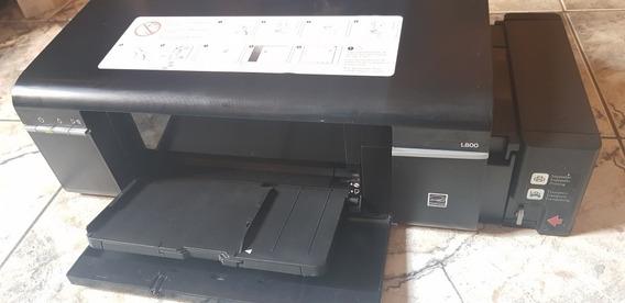 Impressora Fotográfica Epson L800 Tanque De Tinta 110v Imprime Cd / Dvd / Blu Ray Com Cabeça Nova - Oferta