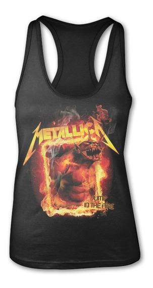 Blusa Metallica Jump In The Fire, Rock Metal, Unitalla