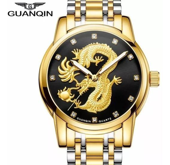 Relógio De Pulso Masculino Guanqin Gs19069 Preto