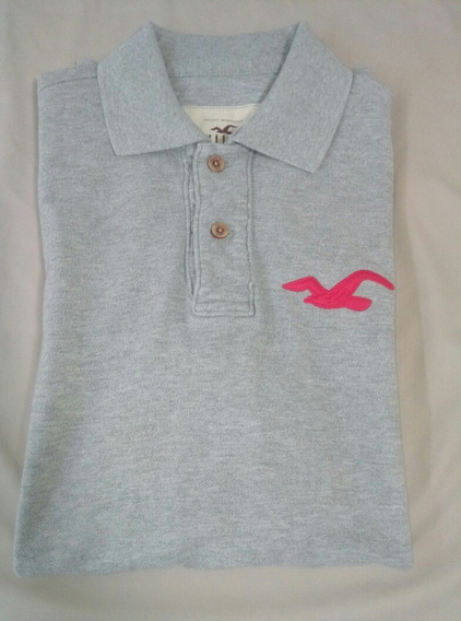 Playera Tipo Polo + Playera Manga Larga Hollister Talla M