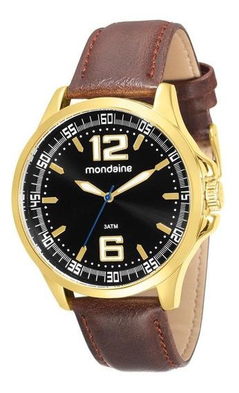 Relógio Masculino Pulseira De Couro Mondaine 76672gpmvdh3