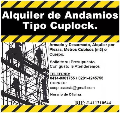 Alquiler De Andamios Tipo Cuplock