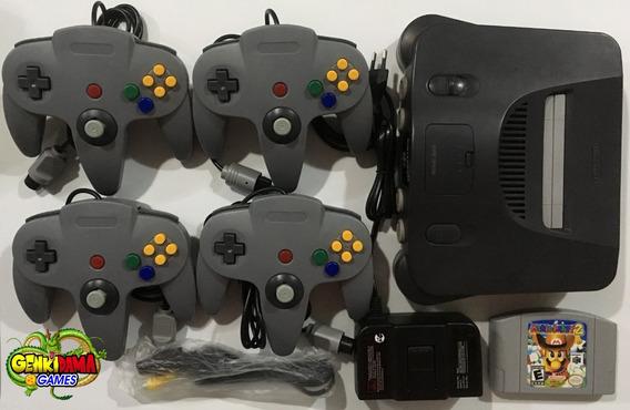 N64 Nintendo 64 Completo C/ 4 Controles + Mario Party 2
