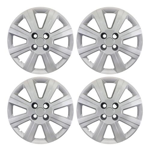 Imagen 1 de 3 de X4 Tazas Chevrolet Agile 15 Pulgadas 8 Rayos 2009 Al 2014