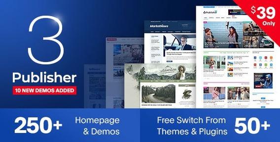 Tema Publisher Amp V7.0.1 Wordpress - Site De Notícias