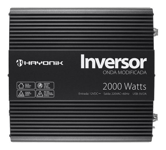 Inversor De Onda Modificada 2000w 12vdc/220v Pw11-4 Hayonik