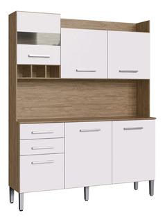 Mueble De Cocina Kit Completo 6 Puertas 2 Cajon Amoblamiento