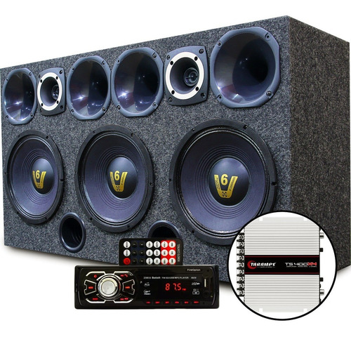 Caixa Som Automotivo Radio Bluetooth Usb Modulo Taramps