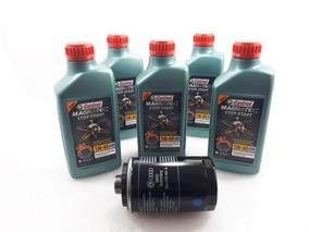 Kit Troca Oleo Castrol 5w40 50200 Tiguan 2.0 170/180/200cv