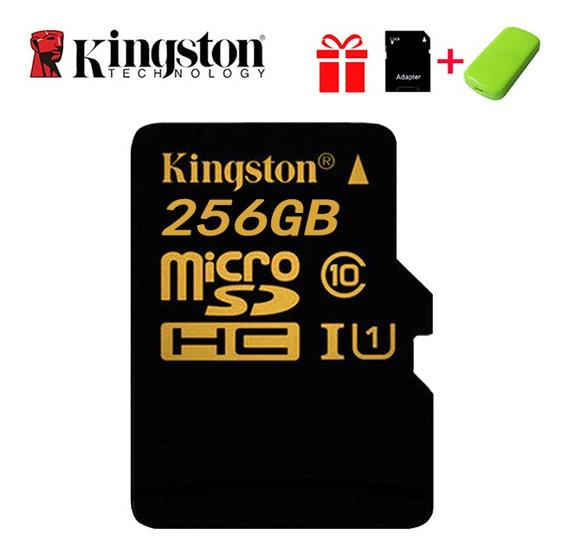 Kingston Micro Sd C10 Cartão De Memória 256 Gb U1 Até 80mb/s
