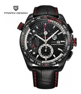 Reloj Pagani Design Cx-2492c Cuero Cuarzo Full Black