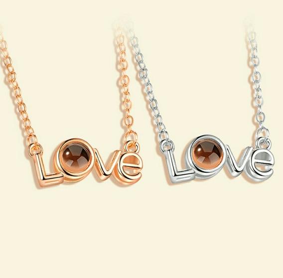 Collar Que Proyecta Te Amo En Muchos Idiomas, Modelo 5