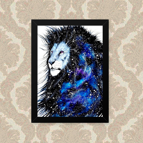 Quadro Lion Space 23x33cm