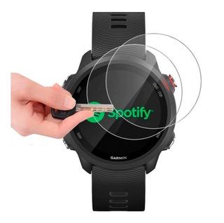 3 X Películas De Vidro Temperado Protetora Para Proteção Relógio Garmin Forerunner 245 / 245 Music