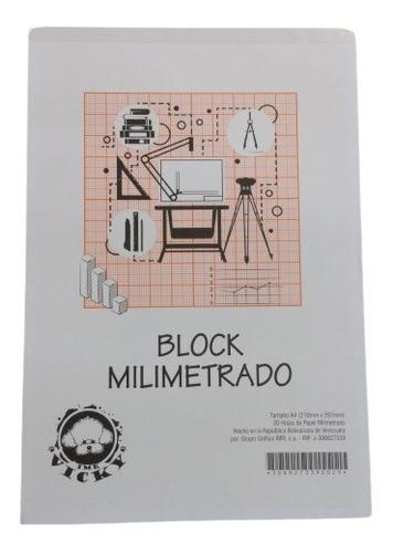 Imagen 1 de 1 de Block Milimetrado Din A4