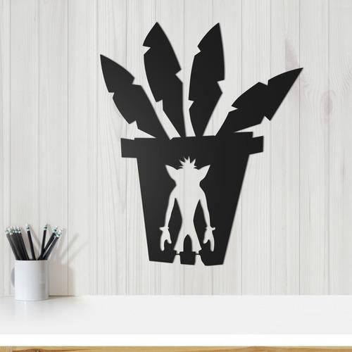 Quadro Decorativo Parede Jogos Crash Bandicoot 30cm