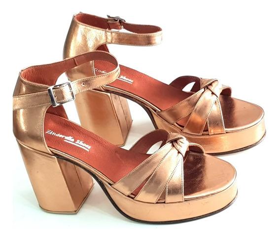 Sandalias Fiesta Nudo Números 41 42 43 44 Zinderella Shoes
