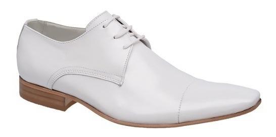 Sapato Social Branco P/ Médicos Solado Couro Bigioni Ref 307