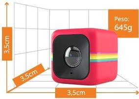 Câmera De Ação Polaroid Cube 6 Mp Fullhd Vermelha