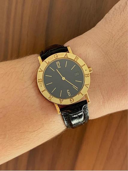 Bulgari Bb33 Em Ouro Amarelo , Impecável , Promocao !!!