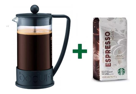 Bodum Starbucks Cafetera Brazil 1 Litro 8pc Promo Regalo