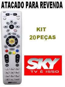 Controle Original Sky Hdtv Hd Plus H67 Kit Com 20 Peças