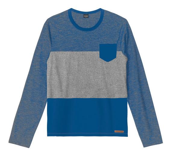 Camiseta Juvenil Masculina Rovitex Teen Azul