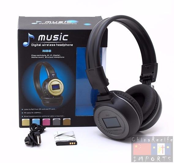 Fone De Ouvido Headset Bluetooth Visor Fm Stereo N65